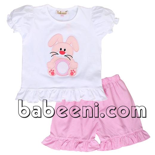 Girl applique bunny set for Easter - DR 2199
