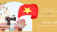 NOTICE OF NATIONAL LIBERATION  & INTERNATIONAL LABOR DAY HOLIDAY