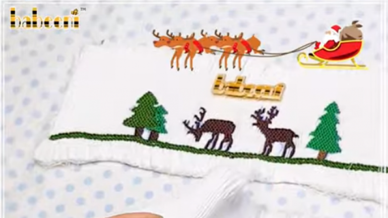 How to do hand-smocking Christmas patterns